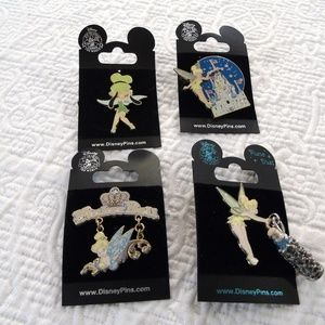 Disney 4 Collectors Pins Tinker Bell